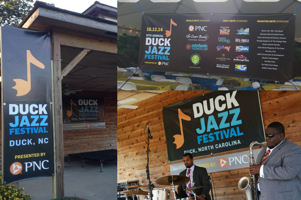 Duck Jazz Festival Event Signage